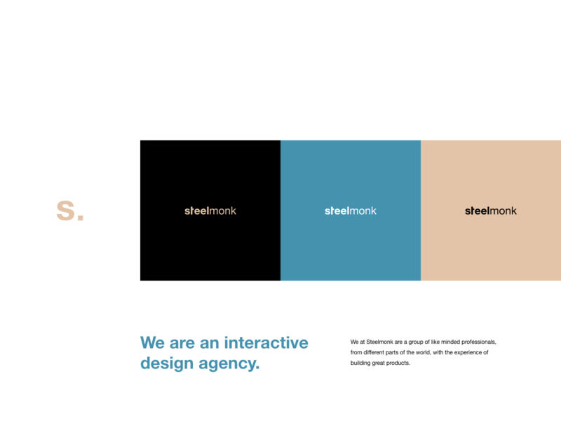 Steelmonk Agency interaction typography vector branding logo inspiration design