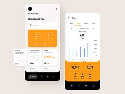 Health App ios app mobile app mobile app ux ui design design ui