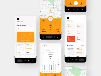 Health App run tracker tracker ui healthy app ui design app ui app design fit app health app health ux design ux ui design inspiration design ui