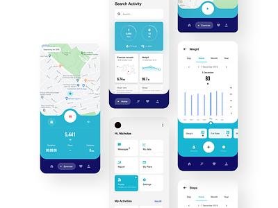 Health App phone app ios app app ux design ux ui design inspiration design ui