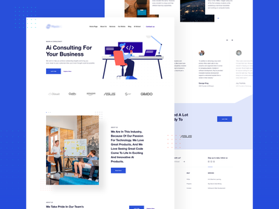 MaxinAI Home page portfolio brand ux design web design web ux ui design inspiration design ui