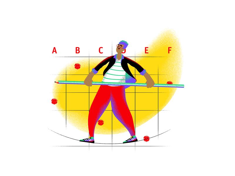 Ponto de Virada #12 work podcast noise illustration grain colorful coca-cola character career b9