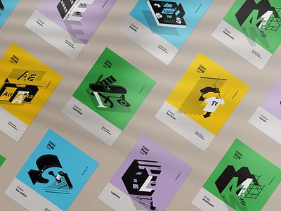Fabio Haag Type visual identity typography type design type soft colors lines isometric illustration graphic design gestalt fabio haag design studio brand identity