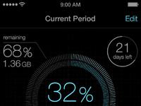 Data usage screenshot