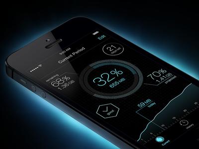 iOS 7 Data Usage App
