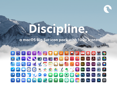 Discipline. - a macOS Big Sur icon pack with 100+ icons big sur icons big sur themes theming mac icon macos mac app colorful apple icon