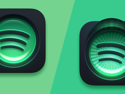 Spotify macOS Big Sur Icon illustration icon apple app colorful neon lime green traffic light mac macos big sur