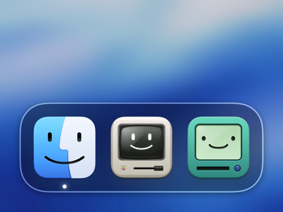 Adopt a Finder macOS Big Sur Icon adventure time app icon macintosh 1984 bmo finder design macos big sur mac illustration app apple icon