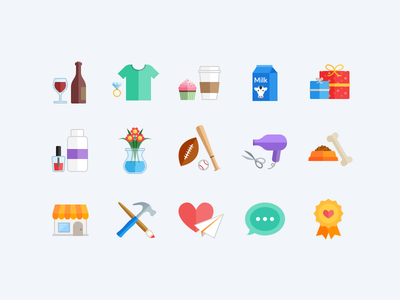 Category Icons icon illustration flat categories web colorful minimal