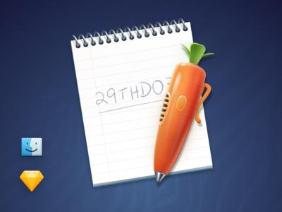 Judy's Carrot Pen & Notepad