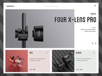 X-lens website concept