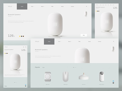 Electric website design concept plain white electric web