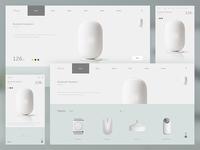 Electric website design concept