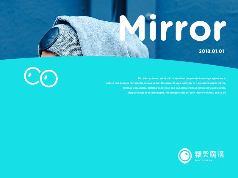 fairy mirror branding fashion blue fairy mirror poster typography brand conine logo illustration icon design