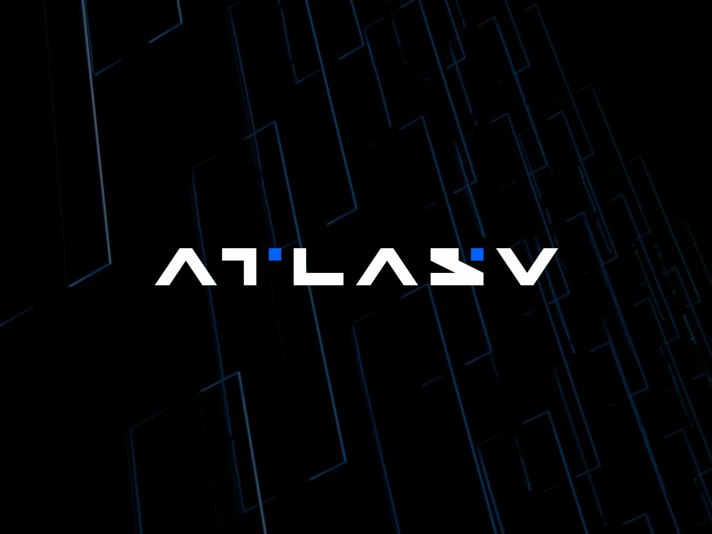 Atlasv logo concept 01 branding logo icon typography vector brand conine design