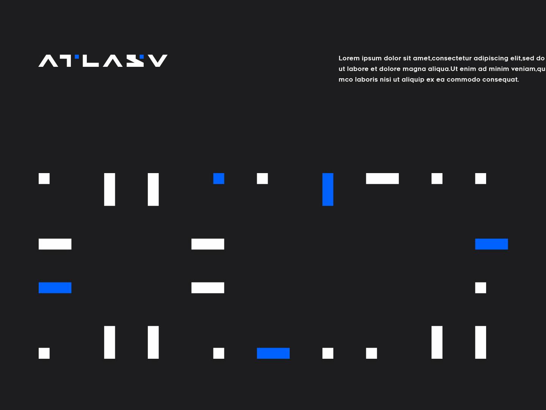 Atlasv 02 conine design branding typography vector brand logo
