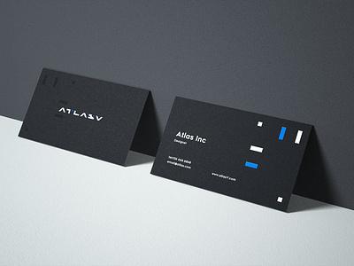 Atlasv name card  concept design conine branding design name card namecard