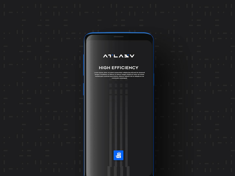Atlasv app splash concept design branding vector conine blue bird cool blue dot data splash app ui