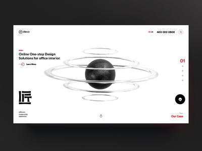 Homepage concept localization design nanjing design team uiux coninedesign indeco powerful clean white back cinema 4d 3d website design