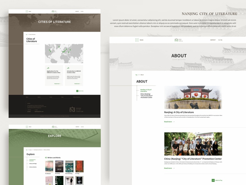 pages conine design nanjing book events list branding website design homepage page