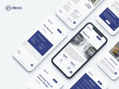 mobile version for indeco moblie interface website design