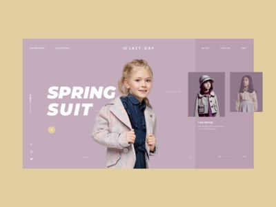 pages for fashion kids branding website website concept inside page conine uikit interface graphic website