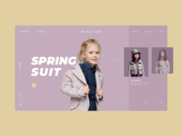pages for fashion kids branding website