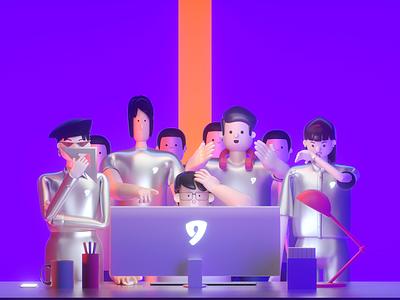 designers desginer cinema4d character graphic 3d illustration conine icon