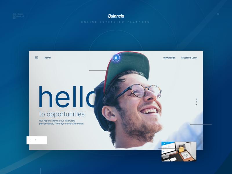 Quinncia.io interview website landing design landingpage branding logo design ux app score dashboard ui