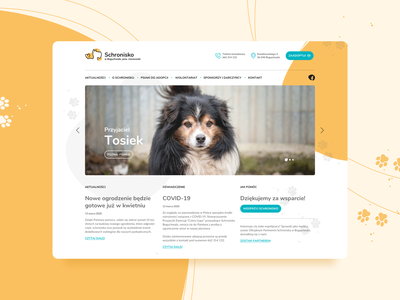 Dog Rescue - Boguchwała colours tablet webapp website paws yellow dogs logo landing page product design ux ui