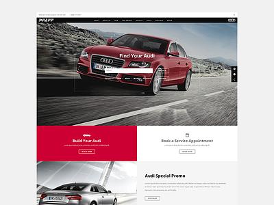 Audi website - Pfaff Audi web design graphic design ui design ux design design ottawa luxury cars audi responsive design user experience