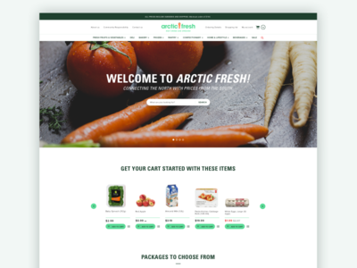 eCommerce - Arctic Fresh logo online food simple design shop clean store ecommerce