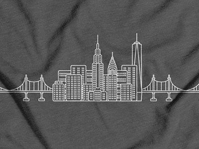 NYC skyline shirts
