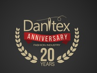 Anniversary Logo 20 years for fashion company