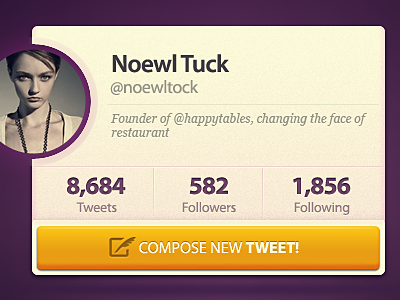 Tweet Box twitter box tweet tweet box user profile typography free psd