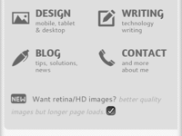 HD Toggle for my site