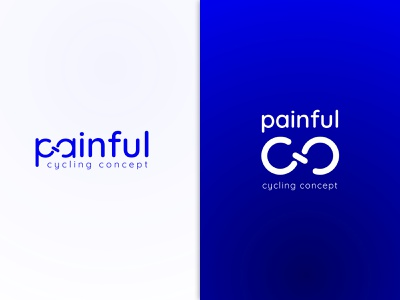 painful.cc Brand gradient cycling cycling design vector logo branding