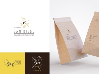 Logo proposals: Café San Diego product design illustration typography design illustrator vector branding logo