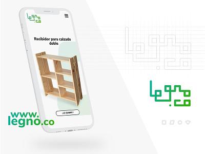 Brand and web implementation - legno.co webdesign website furniture app industrialdesign icon app vector typography ui ux branding