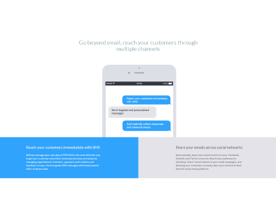 Two section layout web design flat design automation iphone css html