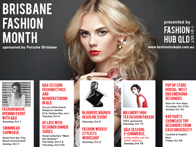 Fashion Hub QLD  Promotional Materials calendar poster fashion graphic design promotional