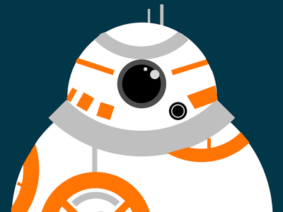 BB8 the force awakens star wars vector bb8