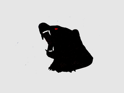 Mad Bear fear mad growl red eye sketch angry bear
