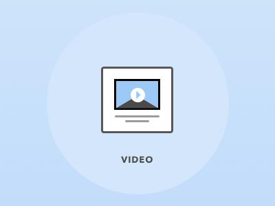 Video icon publishing ui line art icon
