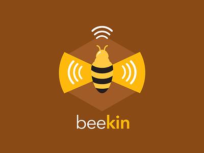 Beekin Logo geo data transmit apple beacon beacon bee
