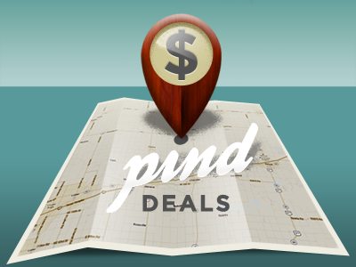 PindDeals.com identity and color scheme deals social map pin map