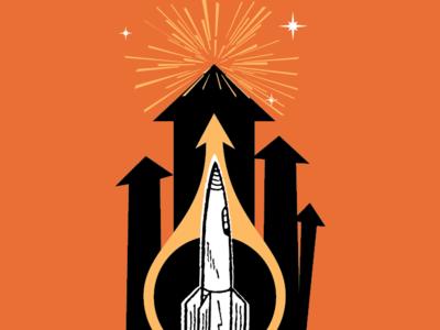Get Vertical vertical typography rocket launch arrows rocket
