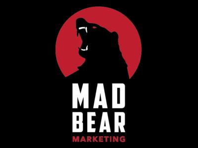 Madbear Marketing Logo angry red type icon mad bear logo