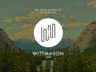 WittMason.com is LIVE animation type logo website ux ui