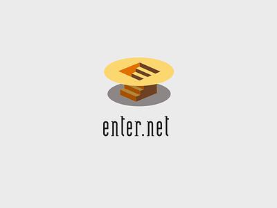 Enter.net e logo vector icon logotype 3d logo